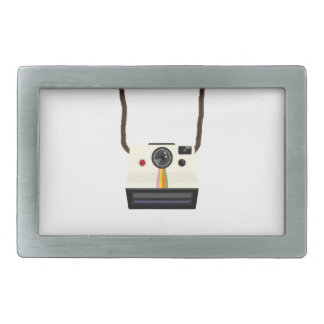 retro camera with strap rectangular belt buckle