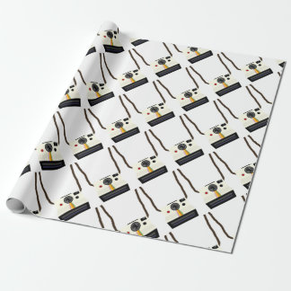 retro camera with strap wrapping paper