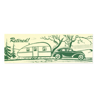 Retro Camper Calling Card Double-Sided Mini Business Cards (Pack Of 20)