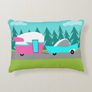 Retro Camper / Trailer and Car Accent Pillow