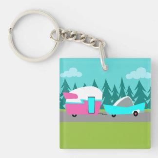 Retro Camper / Trailer and Car Acrylic Keychain