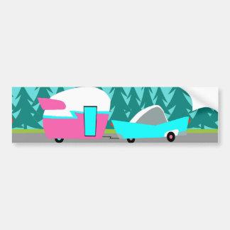 Retro Camper / Trailer and Car Bumper Sticker
