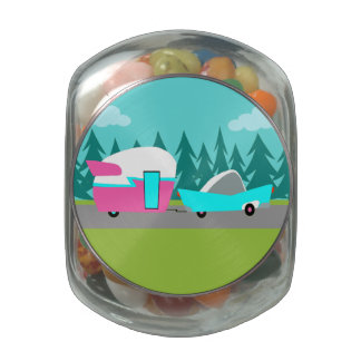 Retro Camper / Trailer and Car Candy Jar Jelly Belly Candy Jar
