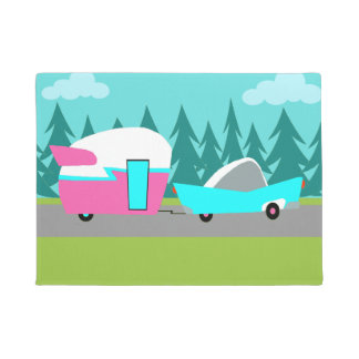 Retro Camper / Trailer and Car Door Mat