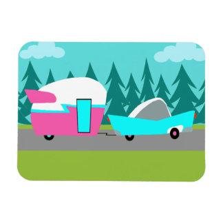 Retro Camper / Trailer and Car Flexible Magnet