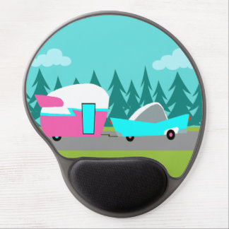 Retro Camper / Trailer and Car Gel Mousepad