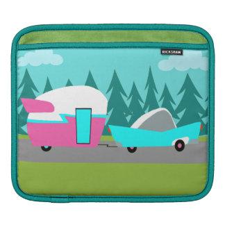 Retro Camper / Trailer and Car iPad Sleeve