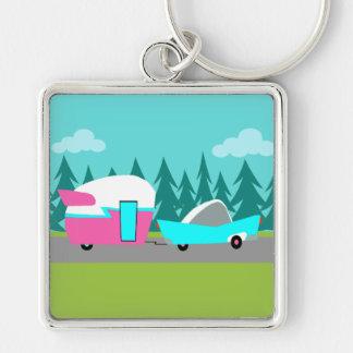 Retro Camper / Trailer and Car Keychain