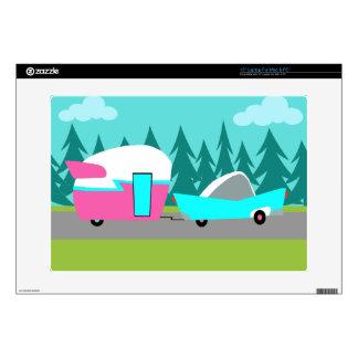 Retro Camper / Trailer and Car Laptop Skin