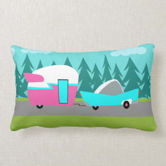 Retro Camper / Trailer and Car Lumbar Pillow