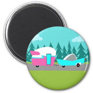 Retro Camper / Trailer and Car Magnet