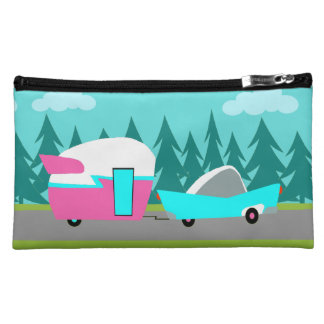 Retro Camper / Trailer and Car Makeup Bag
