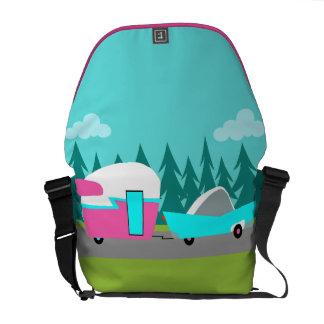 Retro Camper / Trailer and Car Messenger Bag