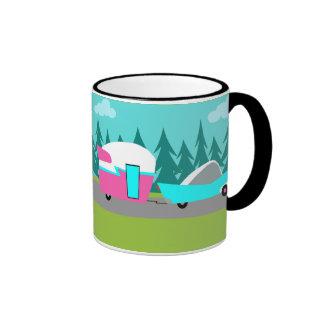 Retro Camper / Trailer and Car Mug