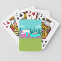 Retro Camper / Trailer and Car Playing Cards