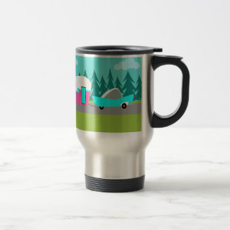 Retro Camper / Trailer and Car Travel Mug