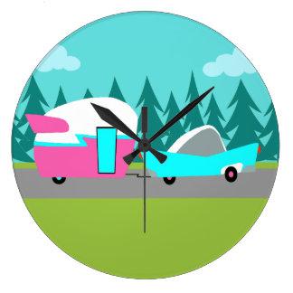 Retro Camper / Trailer and Car Wall Clock