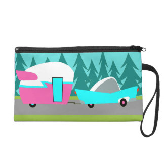 Retro Camper / Trailer and Car Wristlet