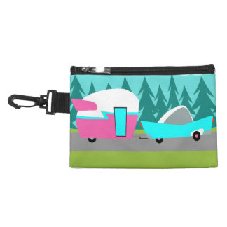 Retro Camper / Trailer & Car Clip On Accessory Bag