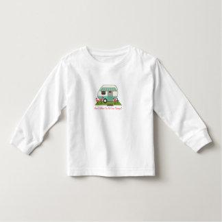 Retro Camper / Trailer & Pink Flamingos Toddler T-shirt