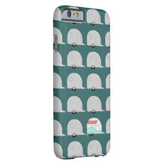 Retro Campers in Gray Barely There iPhone 6 Case