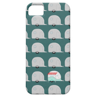 Retro Campers in Grey iPhone 5 Case