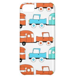 Retro Camping Trailer Turquoise Orange Vintage Car iPhone 5C Case