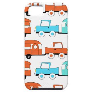Retro Camping Trailer Turquoise Orange Vintage Car iPhone 5 Cover