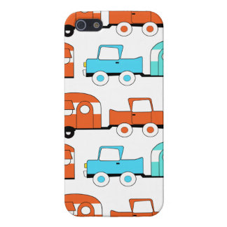 Retro Camping Trailer Turquoise Orange Vintage Car Case For iPhone SE/5/5s