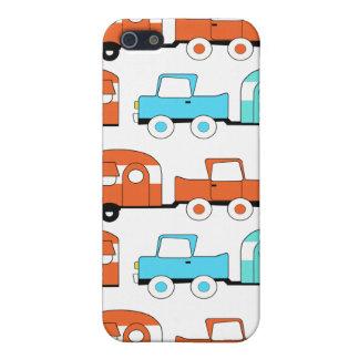 Retro Camping Trailer Turquoise Orange Vintage Car Case For iPhone 5