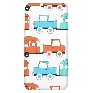 Retro Camping Trailer Turquoise Orange Vintage Car iPhone 5C Cases