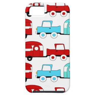 Retro Camping Trailer Turquoise Red Vintage Cars iPhone 5 Case