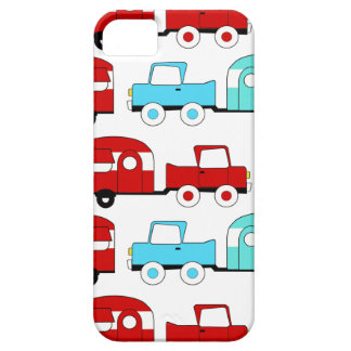Retro Camping Trailer Turquoise Red Vintage Cars iPhone 5 Cases