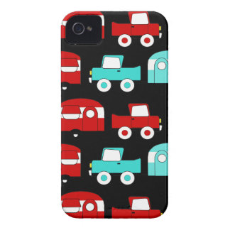 Retro Camping Trailer Turquoise Red Vintage Cars iPhone 4 Case