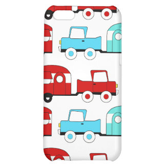 Retro Camping Trailer Turquoise Red Vintage Cars iPhone 5C Case