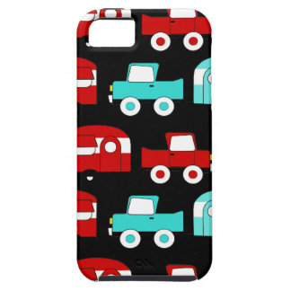 Retro Camping Trailer Turquoise Red Vintage Cars iPhone SE/5/5s Case