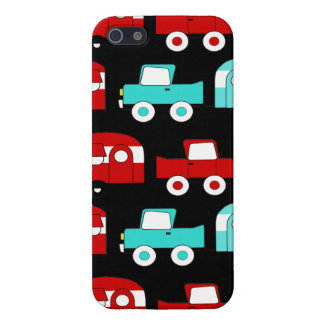 Retro Camping Trailer Turquoise Red Vintage RV Cover For iPhone SE/5/5s