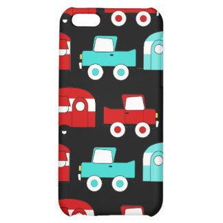 Retro Camping Trailer Turquoise Red Vintage RV Case For iPhone 5C