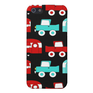 Retro Camping Trailer Turquoise Red Vintage RV iPhone 5 Cover