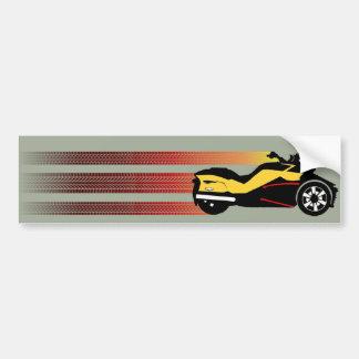 Retro Can Am Spyder Bumper Sticker