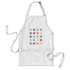 Retro Candy Colors Polka Dots Pattern Apron