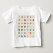 Retro Candy Colors Polka Dots Pattern Baby T-Shirt