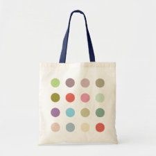 Retro Candy Colors Polka Dots Pattern Canvas Bags