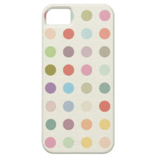 Retro Candy Colors Polka Dots Pattern iPhone 5 Case