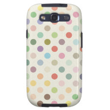 Retro Candy Colors Polka Dots Pattern Samsung Galaxy SIII Cover