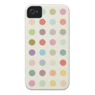 Retro Candy Colors Polka Dots Pattern iPhone 4 Cover