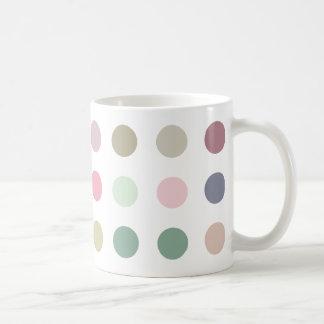 Retro Candy Colors Polka Dots Pattern Coffee Mug