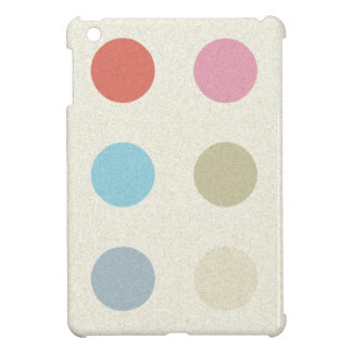 Retro Candy Colors Polka Dots Pattern Cover For The iPad Mini