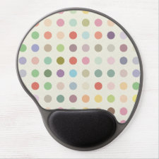 Retro Candy Colors Polka Dots Pattern Gel Mouse Mat