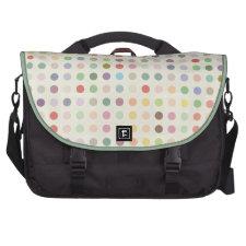 Retro Candy Colors Polka Dots Pattern Laptop Commuter Bag